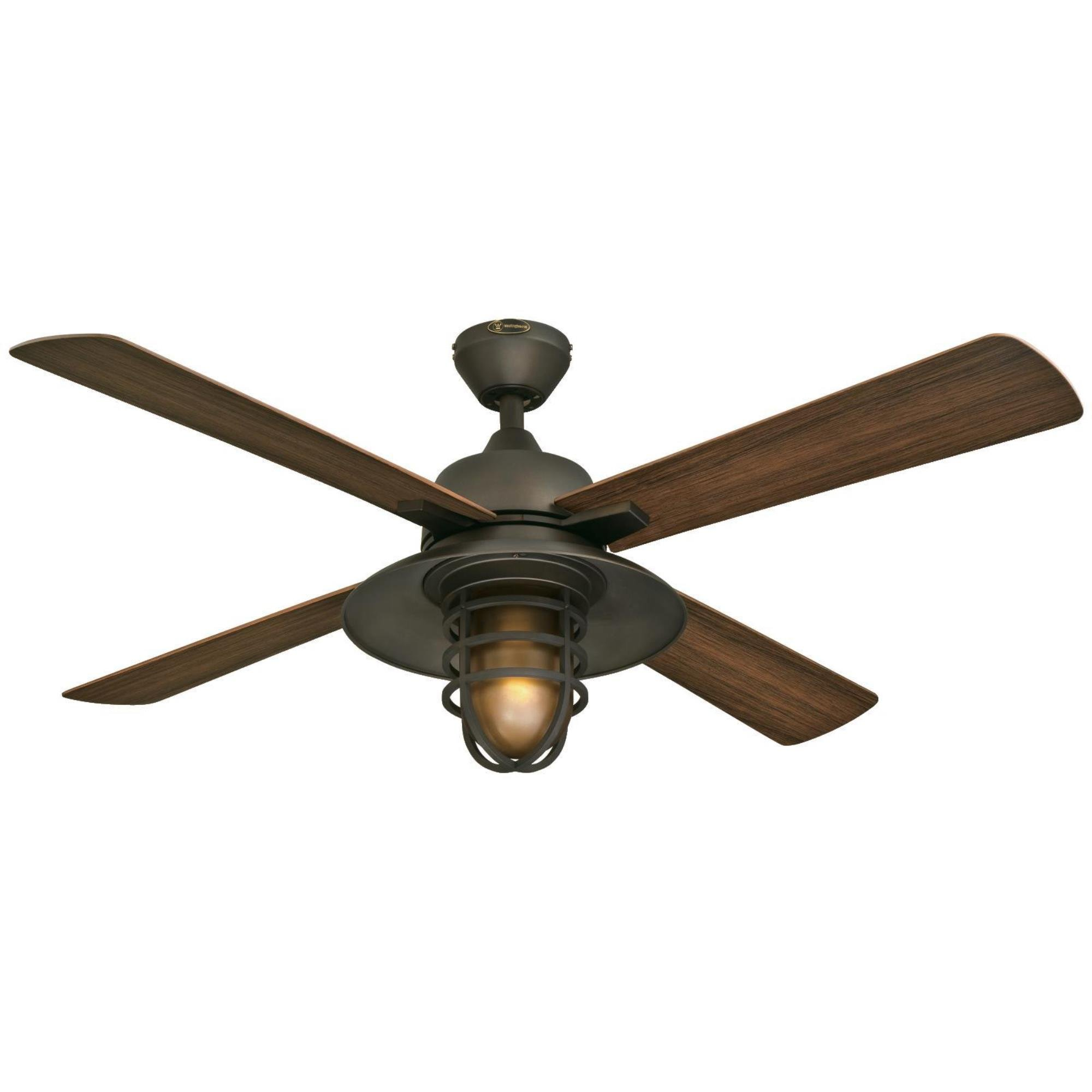 Westinghouse 7204300 Great Falls One-Light 52'' ABS Resin Four-Blade Indoor/Outdoor Ceiling Fan, Oil Rubbed Bronze