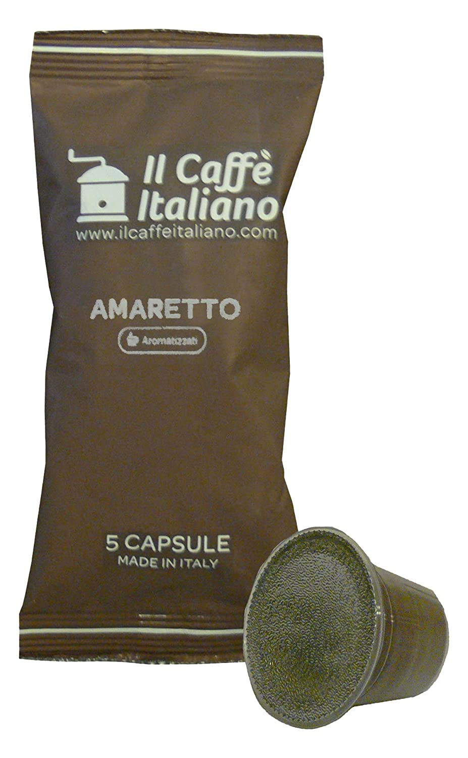 Caffè italiano 50 Nespresso Compatible Coffee Capsules - Coffee Flavoured Amaretto -50 X Coffee Capsules/Pods Espresso Compatible Nespresso - (10 Pack Of 5 ...