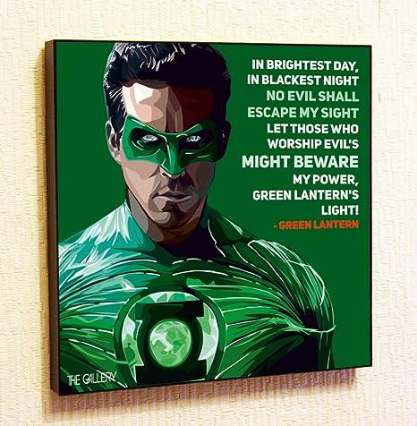 Linterna Verde Marvel Dc Comics Super Hero Citas De Motivación Adhesivos De Pared Pop Art Regalos Retrato Enmarcado Famoso Pinturas En Acrílico Lona De Póster Impresiones Arte Geek Home Kitchen