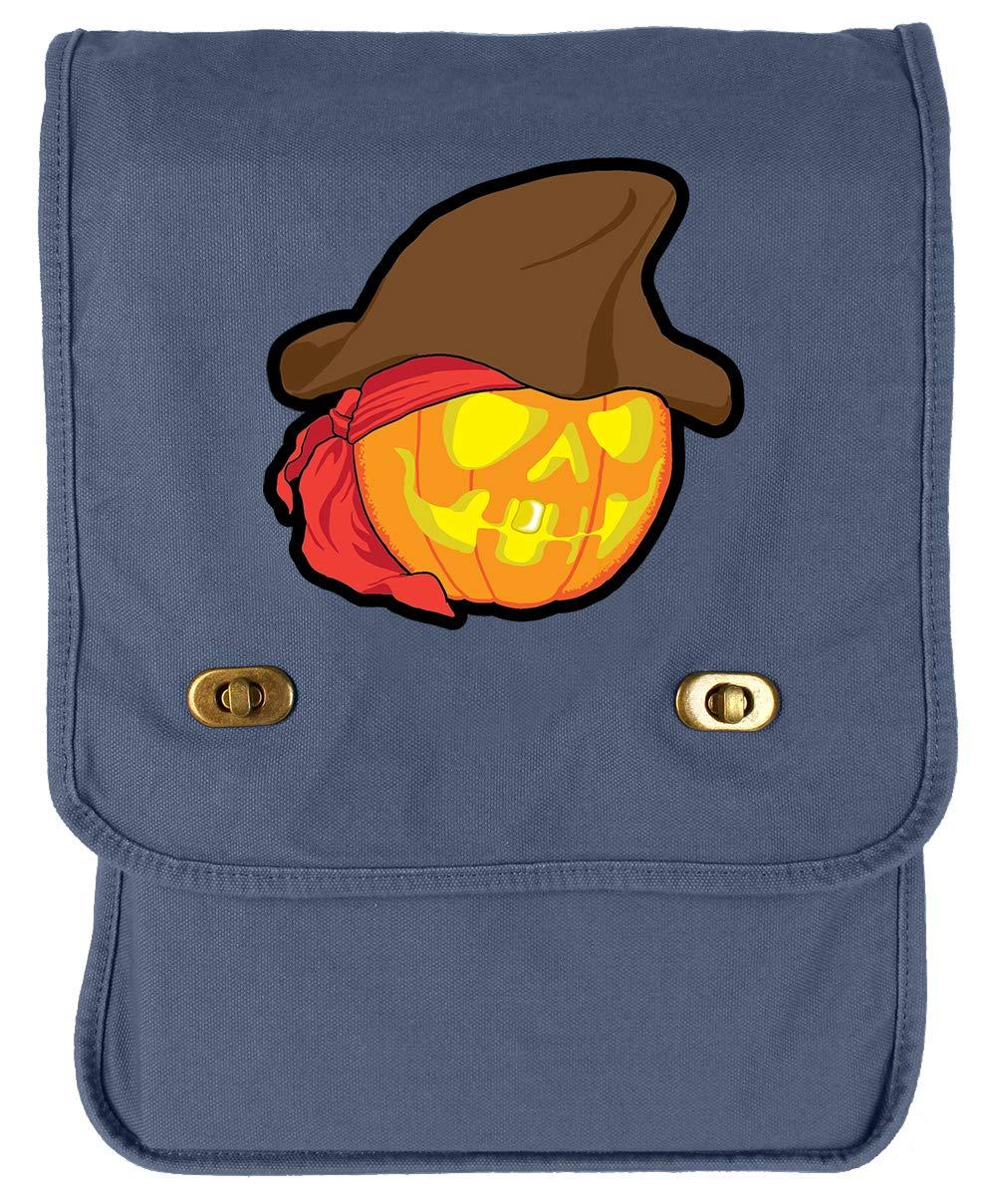 Tenacitee Pirate Pumpkin Green Brushed Canvas Messenger Bag