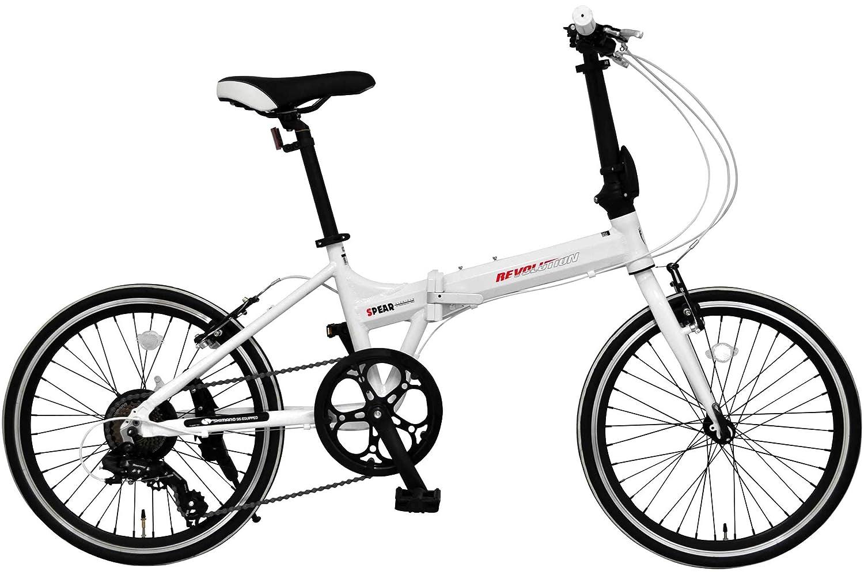 SPEAR (スペア) 折りたたみ自転車 20インチ アルミフレーム SPFA-207 ディレーラー Tourney (ターニー)男性 女性 適用身長150㎝以上 1年保証  ホワイト B07MFQR356