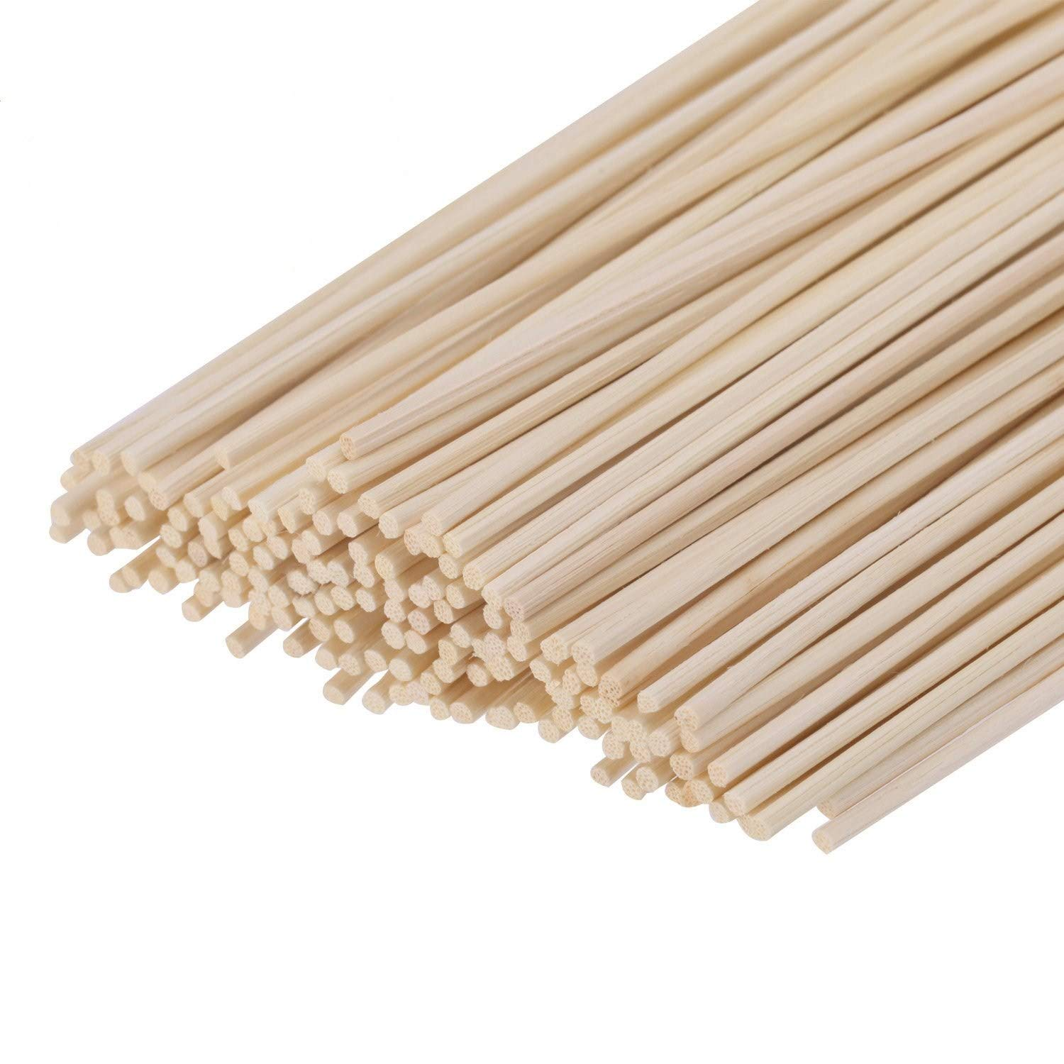 """HOSSIAN Set of 100 Reed Diffuser Sticks - Wood Rattan-Reed Sticks -Diffuser Glass Bottles-Diffuser Refills- Spa-Aromatherapy(7"""" 17cm)"""
