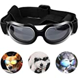 PEDOMUS Dog Sunglasses Small Dog Goggles Doggles Dog Glasses for Small Dogs UV Protection Windproof Waterproof…