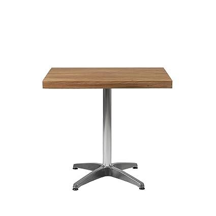 Amazon.com : Euro Style Sam Teak Slat Wood Rectangle Indoor or ...