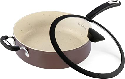 Ozeri The Stone Earth All In One Sauce Pan With 100 Apeo Pfoa Free Stone Derived Non Stick Coating From Germany Amazon Co Uk Kitchen Home
