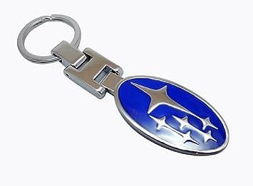 GUMP emblema de Subaru llavero azul cromado de Metal de alta ...