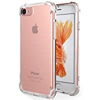 iPhone 7 Case, iPhone 8 Case, Antank Crystal Clear [Air Cushion] [Shock-Absorption] TPU Bumper Ultra Slim Protective Scratch-Resistant Shockproof Case for iPhone 7 (2016)/iPhone 8 (2017)