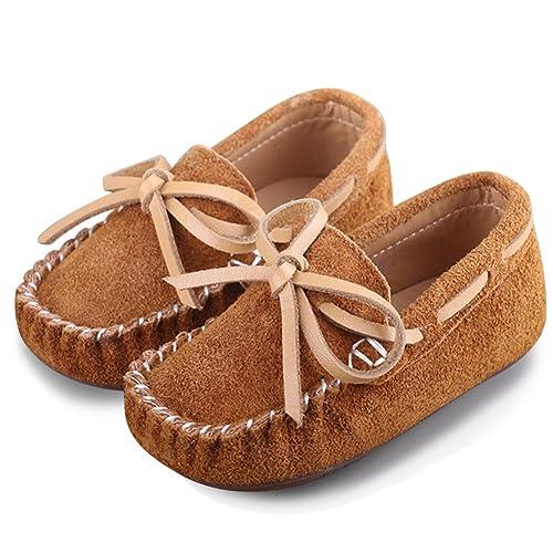 neueste klare Textur Gutscheincode katliu Mädchen Jungen Mokassins Wildleder rutschfest Lauflernschuhe Kinder  Loafers Baby Schuhe mit Weich Sohle für Frühling Sommer
