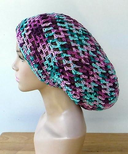 c36efe9907a Amazon.com  Handmade cotton slouchy beanie hat