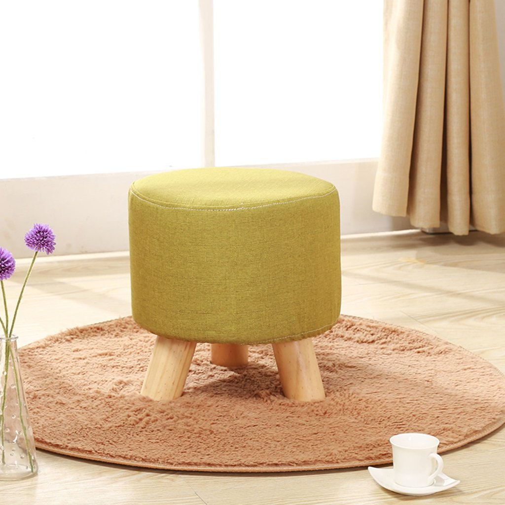 STORAGE OTTOMANS Living Room Round Footstool Children's Low stools Wooden Shoe Bench Fabric Sofa Stool