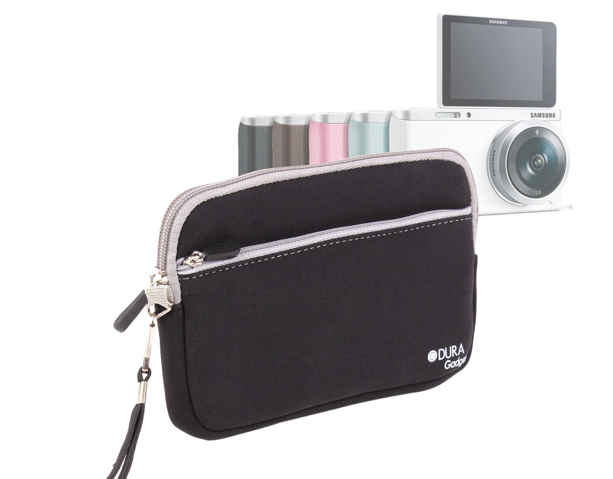 DURAGADGET Black Compact Camera Case With Secure Zip Closure For Samsung NX Mini Smart Camera