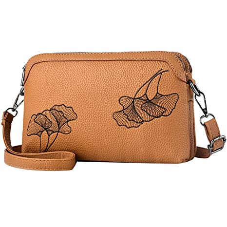 593ef987c432 Buy Fanspack Womens Satchel Bag Fashion Embroidery Artificial Leather Small  Crossbody Bag Online at Low Prices in India - Amazon.in