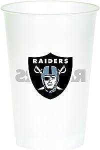 Creative Converting Las Vegas Raiders 20 oz Plastic Cups, 8 Count