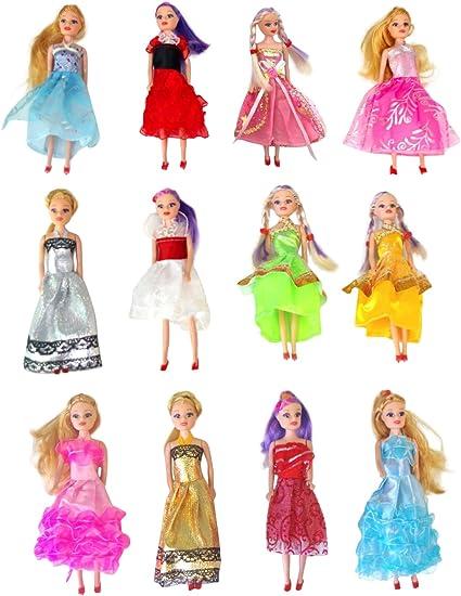 Amazon.com: Conjunto de muñecas Barbie Princesa en ...