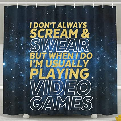 HUANGLING Funny Gamer And Gaming Geek Shower Curtain 60x72inch