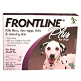 Merial Frontline Plus Flea and Tick Control for 45 to 88-Pound Dogs, 6 Doses