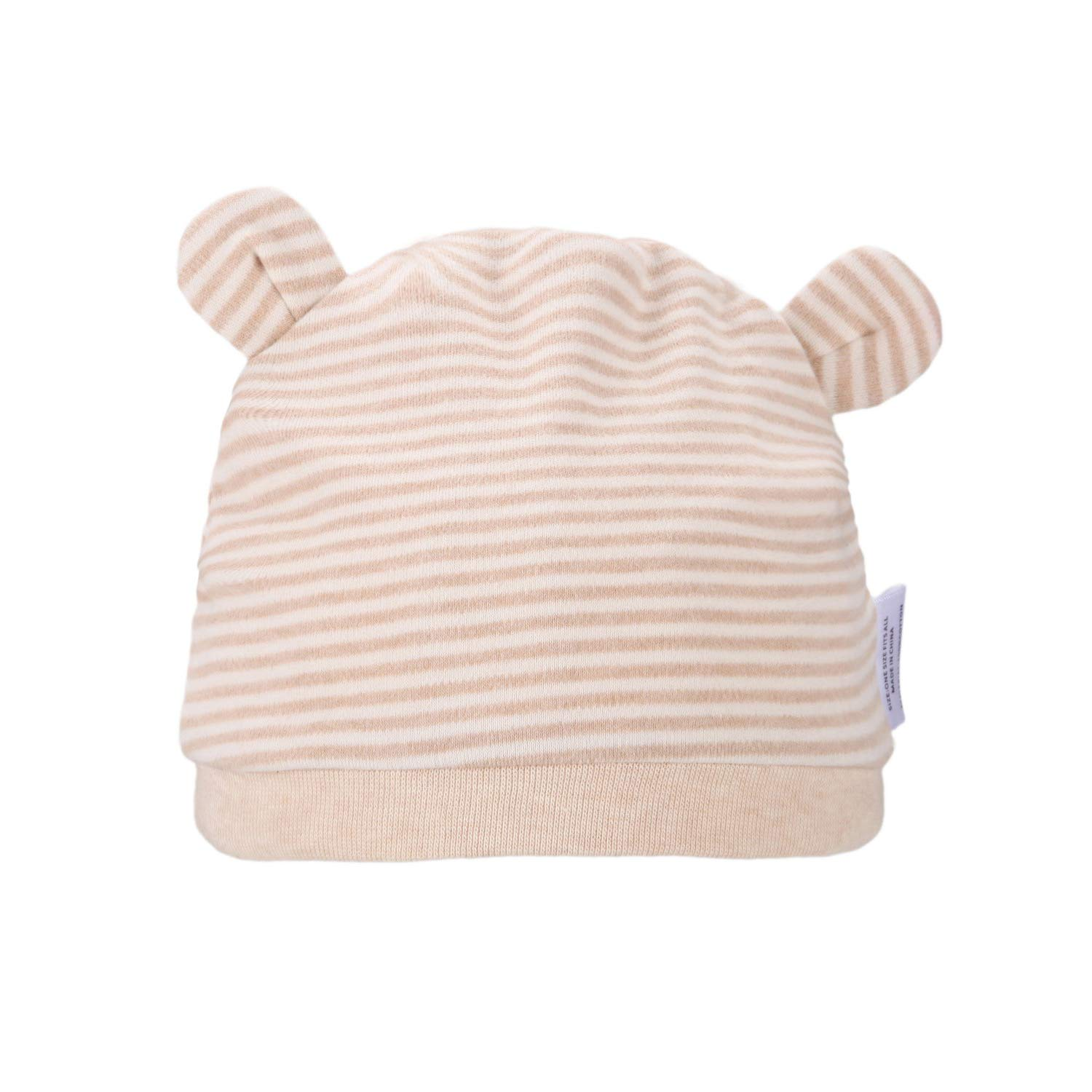 10399d08546 Folamer newborn hats organic cotton top knot beanies for months baby infant  cute soft and comfortable