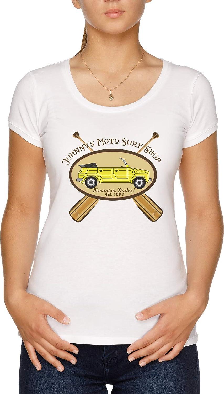 Surf Ninjas Moto Surf Camiseta Mujer Blanco: Amazon.es: Ropa ...