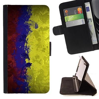 FJCases Colombia Colombiano Bandera Carcasa Funda Billetera con Ranuras para Tarjetas y Soporte Plegable para HTC U11