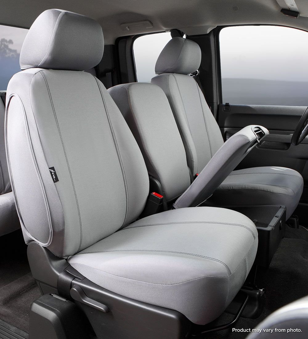 Poly-Cotton, Fia SP89-38 GRAY Custom Fit Front Seat Cover Split Seat 40//20//40 Gray