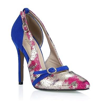 a0bbd25078e1 Stiletto High Heels Slim Pumps Silver Women Fashion Dolphin Lady Shoes Prime