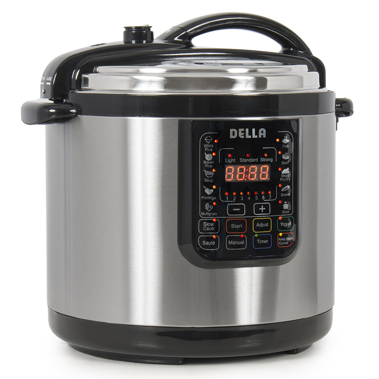 Della 048-GM-48259 Electric XL Pressure Cooker 8 Quart Stainless Steel