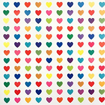 Amazon Com Rainbow Hearts Valentine S Day Gift Wrap Roll 24 X 15