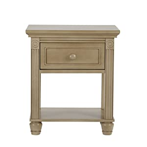 Montana Collection Natural Hardwood Nightstand End Table Combo | Lasting Quality & Design | Kiln-dried & Hand-Crafted Construction, Driftwood
