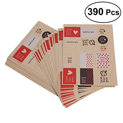 oulii valentines day gift tag stickersjust for you present tags labels self adhesive labels