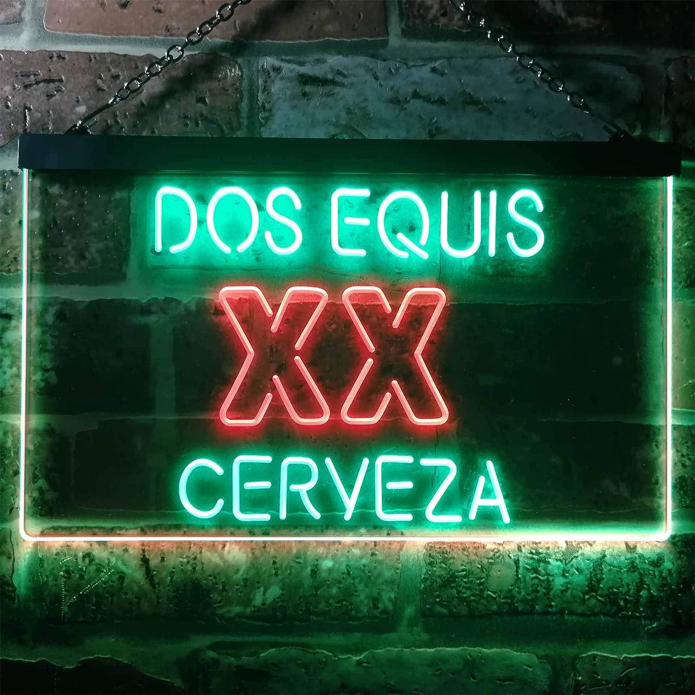 zusme Dos Equis XX Cerveza Novelty - Cartel de neón con ...