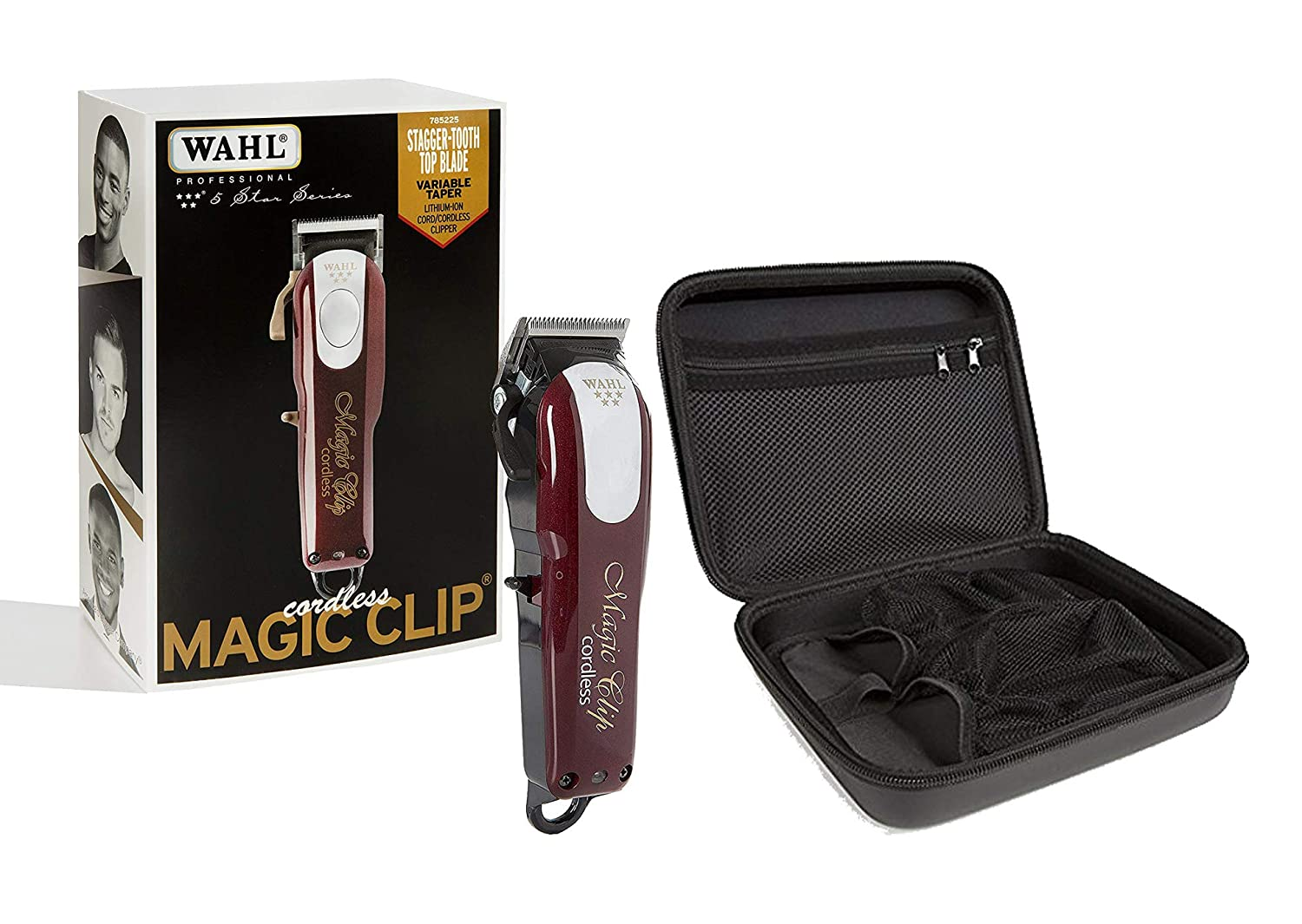Wahl Professional 5-Star Cord Cordless Magic Clip 8148 with Travel Storage Case 90728