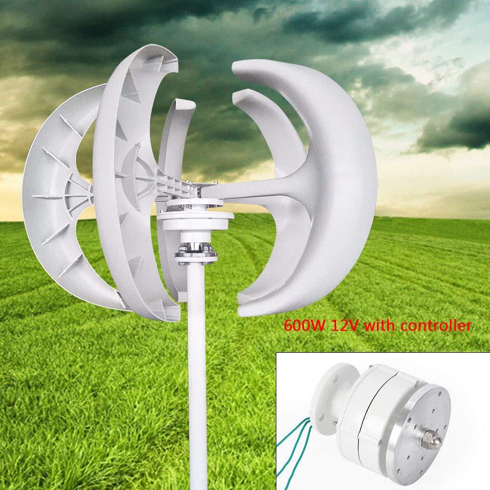 TFCFL 600W 12V Lanterns 5 Blades Wind Turbine Generator Vertical Axis Controller