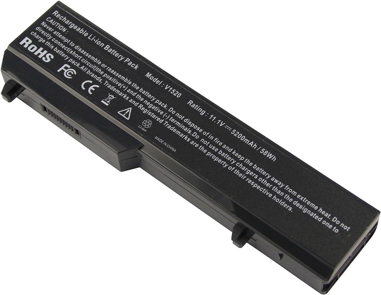 Battery fit Dell Vostro 1520 1510 2510 1310 1320, fits P/N T116C T114C 312-0922 N956C K738H Laptop Notebook Battery - [6-Cell 11.1v 5200mah] -Futurebatt