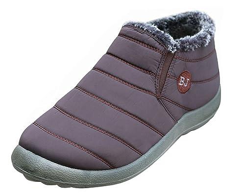Minetom Hombre Mujer Alta Botines Otoño Invierno Plano Botines Calentar Botas De Nieve Zapatos Deportes al aire libre Boots: Amazon.es: Zapatos y ...