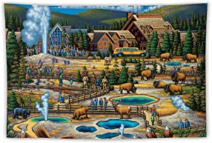 VinMea Wall Tapestry Yellowstone National Park Tapestry Wall Hanging As Wall Art and Home Decor for Bedroom, Living Room, Dorm Decor 59.1 X 59.1 Inches