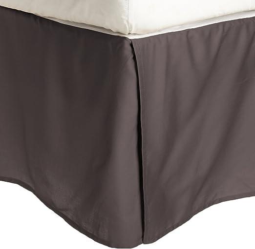 100/% Brushed Microfiber Bed Skirt Wrinkle Resistant Queen Plum Pleated Corners