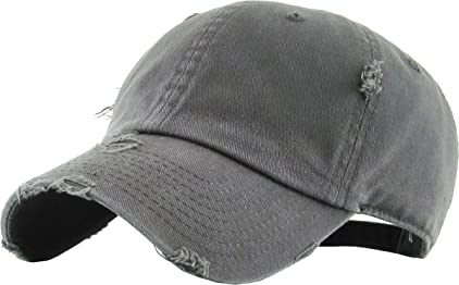 b7011cf8 KBETHOS Vintage Washed Distressed Cotton Dad Hat Baseball Cap Adjustable  Polo Style