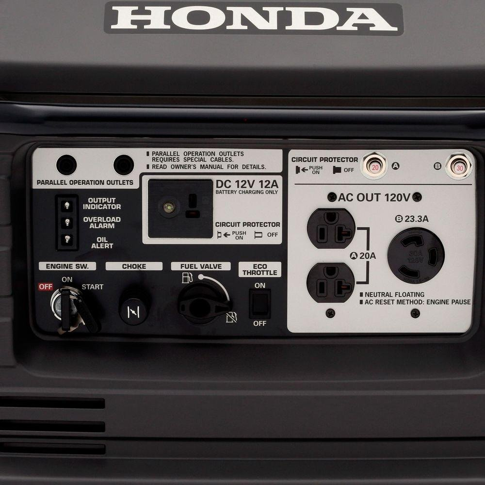 Honda EU3000is offers a good selection of different outlets