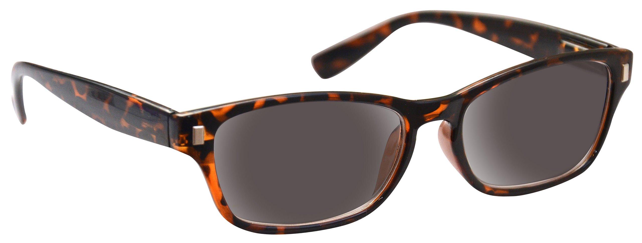 UV Reader Brown Tortoiseshell Sun Readers Reading Glasses Sunglasses UV400 Wayfarer Style Mens Womens UVSR010 +3.00