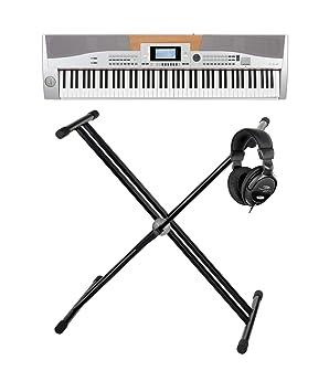 Classic Cantabile SP-10 piano de escenario plateado set con soporte para teclado y auriculares: Amazon.es: Instrumentos musicales