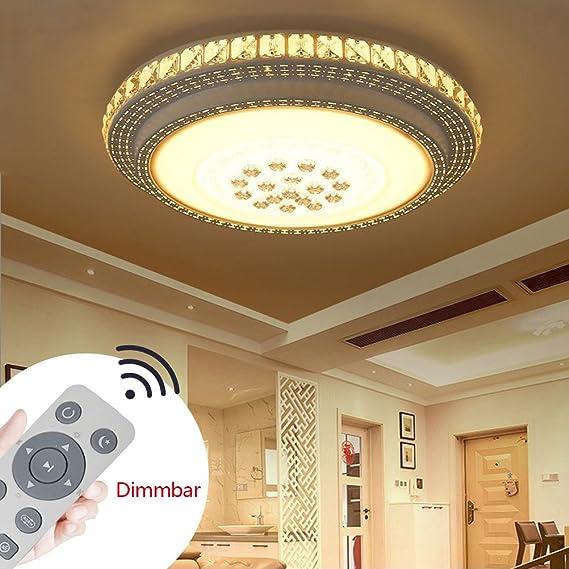 SZYSD 36W LED Deckenleuchte Kristall Wohnzimmer Flurleuchte Rund ...