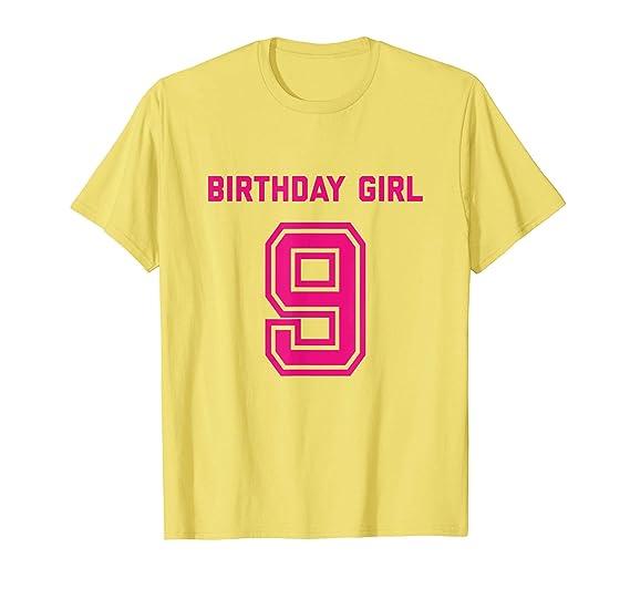 Mens 9th Birthday Shirt Girl Gift Age 9 Year Old Girls Daughter 2XL Lemon