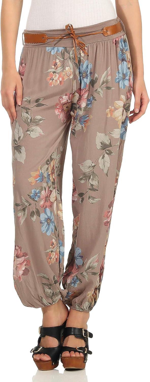 Pantalones De Verano Pantalones Para Mujer Estampado Floral Flores Mississhop Pantalones Aladinos Pantalones Bombachos Pantalones Haren Para Globo Ropa Mujer