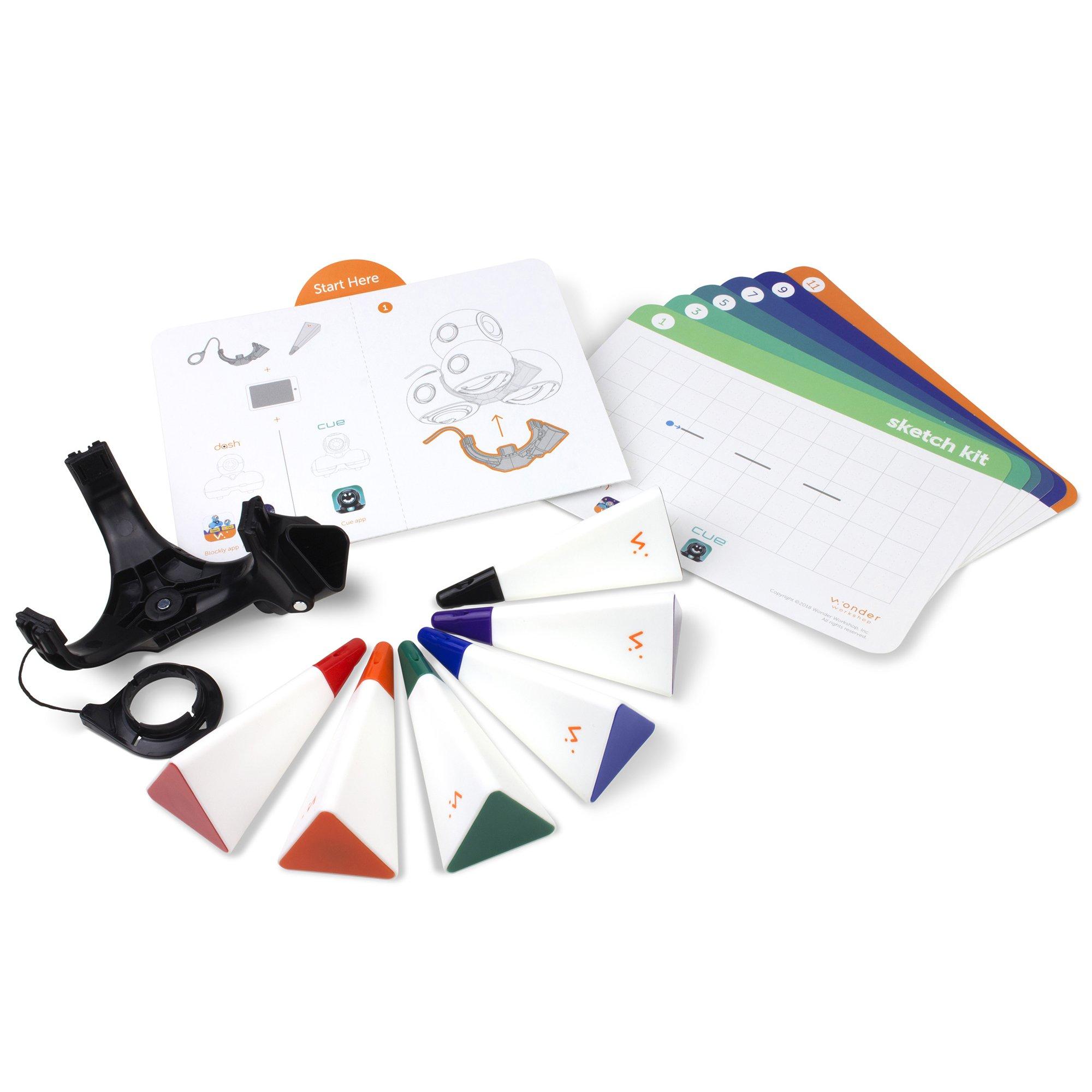 Wonder Workshop – Dash Robot Coding for Kids 6+ – Dash Challenge Cards and Sketch Kit Bundle – (Amazon Exclusive) by Wonder Workshop (Image #3)