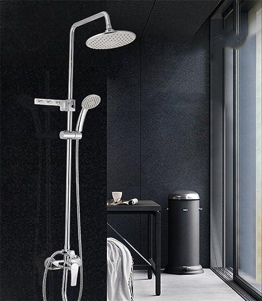 MAFYU columna de duchas Caliente Y Fría Llave Regadera Ducha Set ...