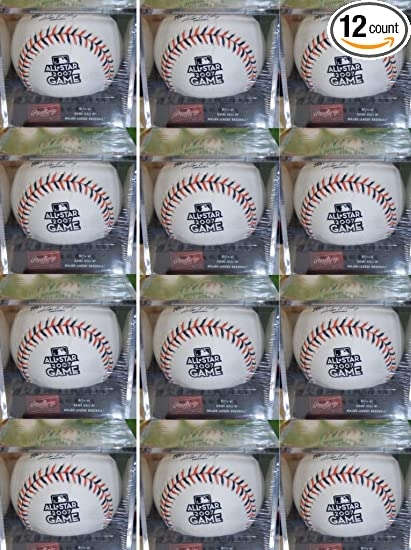 2e62e5977 Image Unavailable. Image not available for. Color  Rawlings Official Major  League Baseball All-Star Game 2007 1 Dozen With Display Cases