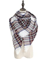 Spring fever Tartan Blanket Scarf Wrap Shawl Neck Stole Plaid Checked Pashmina A07