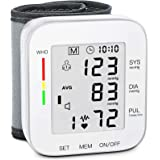 MMIZOO Blood Pressure Monitor Large LCD Display & Adjustable Wrist Cuff 5.31-7.68 inch Automatic 90x2 Reading Memory for Home