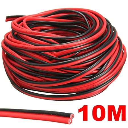 audew red black hookup wire car wiring harness 12v dc 20 awg for led rh amazon co uk