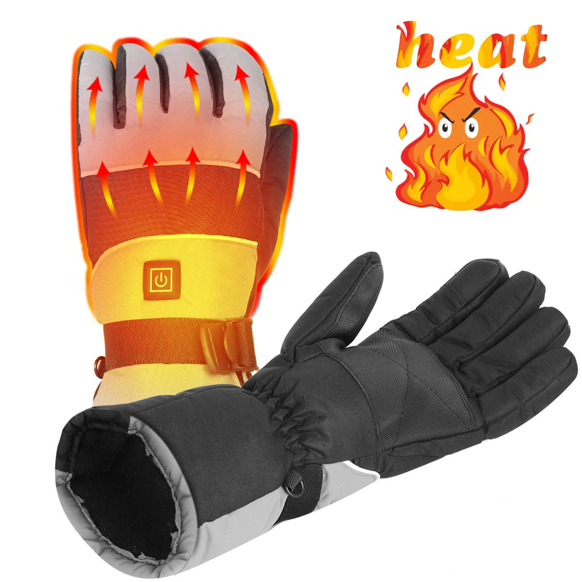 Rockpals Heated Warm Gloves Men Women, Rechargeable Electric Battery Powered Heat Gloves Kit, for Winter Outdoor Sport